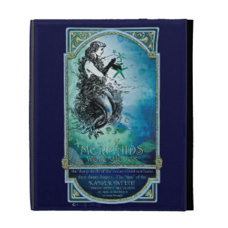 Antiquarian Mermaid Whimsical Collage iPad Case