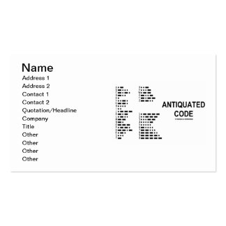 Antiquated Code (International Morse Code) Double-Sided Standard Business Cards (Pack Of 100)