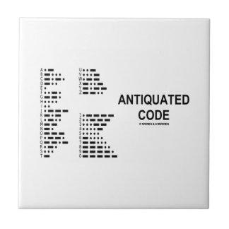 Antiquated Code (International Morse Code) Ceramic Tile