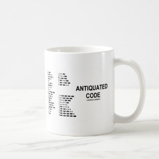 Antiquated Code (International Morse Code) Coffee Mug