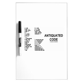 Antiquated Code (International Morse Code) Dry Erase Board