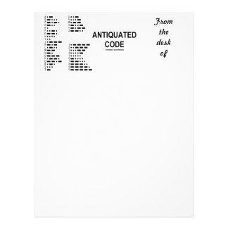 Antiquated Code (International Morse Code) Letterhead