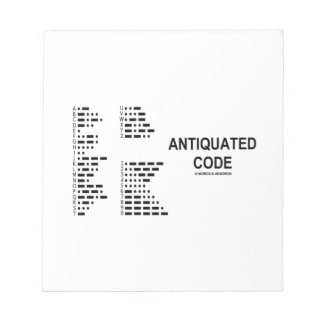 Antiquated Code (International Morse Code) Notepad