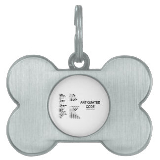 Antiquated Code (International Morse Code) Pet ID Tag