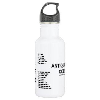 Antiquated Code (International Morse Code) 18oz Water Bottle