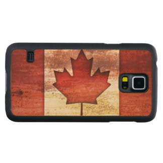 Antiquated Flag of Canada Carved Maple Galaxy S5 Slim Case