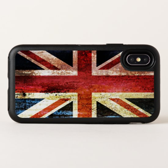 Antiquated Union Jack OtterBox Symmetry iPhone X Case