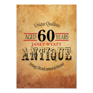 Antique 00th Birthday Invitation
