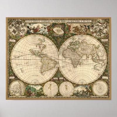 mapa do brasil detalhado. Mapa do mundo 1660 da