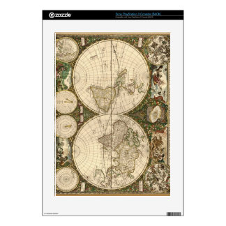 Antique 1660 World Map by Frederick de Wit PS3 Console Decals