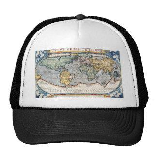 Antique 16th Century World Map Trucker Hat