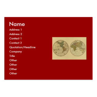 Antique 1786 World Map by William Faden Large Business Cards (Pack Of 100)