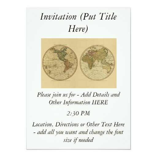 Antique 1786 World Map by William Faden Card