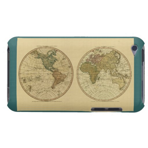 Antique 1786 World Map by William Faden Barely There iPod Covers