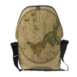 Antique 1786 World Map by William Faden Messenger Bags