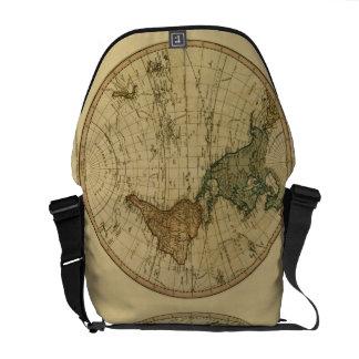 Antique 1786 World Map by William Faden Messenger Bag