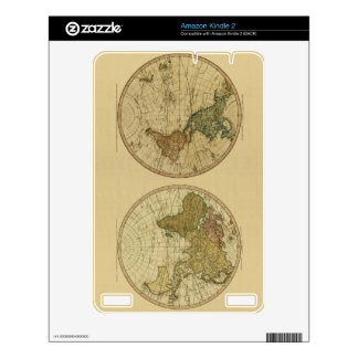 Antique 1786 World Map by William Faden Decals For The Kindle