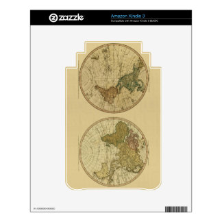 Antique 1786 World Map by William Faden Skins For Kindle