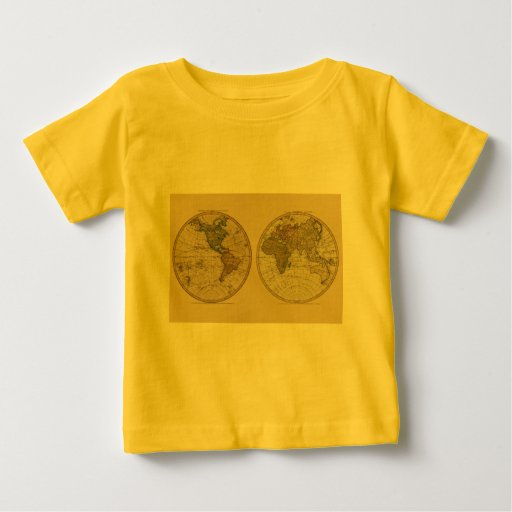 Antique 1786 World Map by William Faden T-shirt