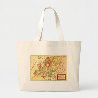 Antique 17th Century Herman Moll Map of Europe Tote Bags