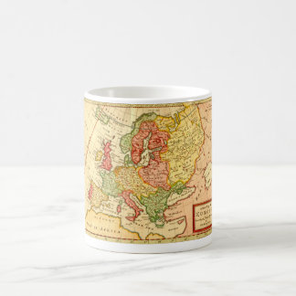 Antique 17th Century Herman Moll Map of Europe Coffee Mug