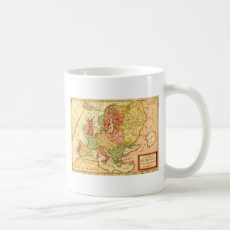 Antique 17th Century Herman Moll Map of Europe Classic White Coffee Mug