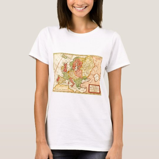 Antique 17th Century Herman Moll Map of Europe T-Shirt