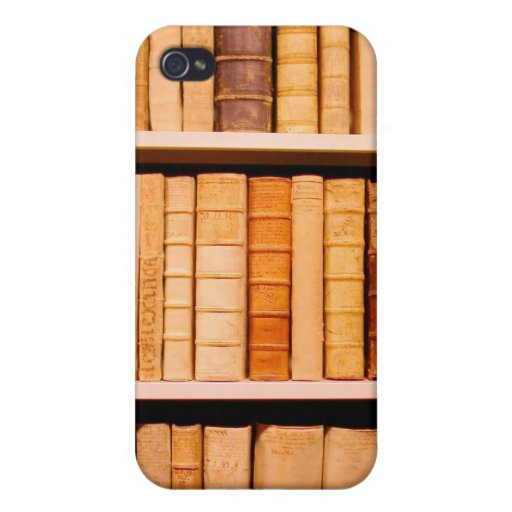 Antique 17th Century Leather Binding Books iPhone 4/4S Case