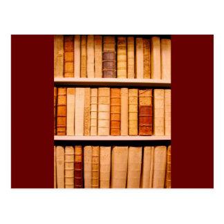 Antique 17th Century Leather Binding Books Postcard