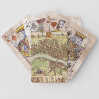 Antique 17th Century London Map W. Hollar Bicycle Playing Cards