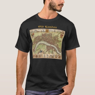 Antique 17th Century Map of London W. Hollar T-Shirt