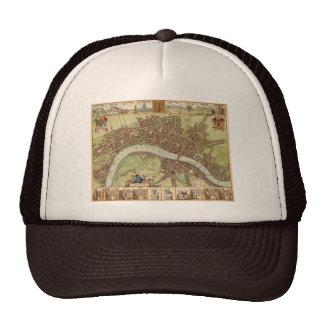 Antique 17th Century Map of London W. Hollar Trucker Hat