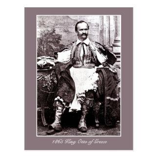 Antique 1865 King Otto of Greece photo Postcard