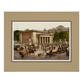 Antique 1890s Berlin Neue Wache restored photo Posters