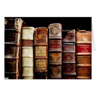 Antique 18th Century Design Leather Binding books Card