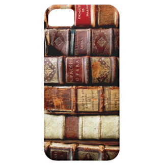 Antique 18th Century Design Leather Binding books iPhone 5 Cases