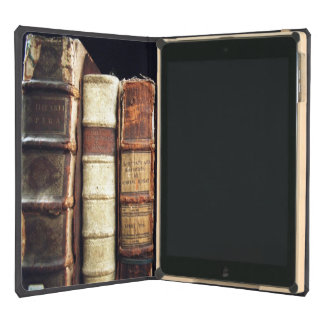 Antique 18th Century Design Leather Binding books Cover For iPad Air