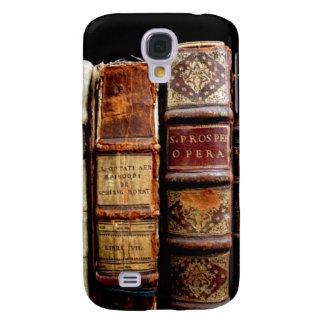 Antique 18th Century Design Leather Binding books Galaxy S4 Case