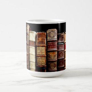 Antique 18th Century Design Leather Binding books Coffee Mug