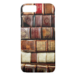 Antique 18th Century Design Leather Binding books iPhone 7 Case