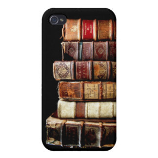 Antique 18th Century Design Leather Binding books iPhone 4/4S Case