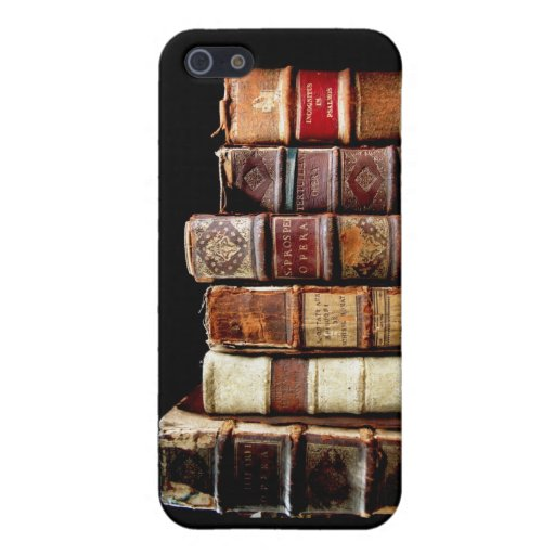 Antique 18th Century Design Leather Binding books Covers For iPhone 5