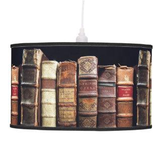 Antique 18th Century Design Leather Binding books Pendant Lamp