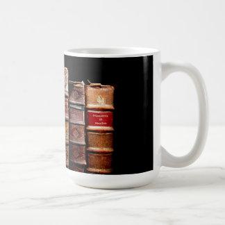 Antique 18th Century Design Leather Binding books Mug