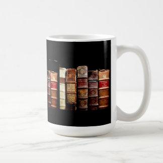 Antique 18th Century Design Leather Binding books Coffee Mugs