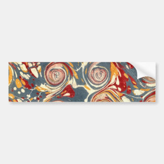 Antique 18th Century Paper Marbling Marbled Bumper Sticker