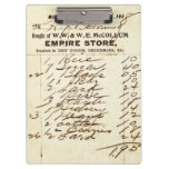 Antique 1908 Millburn (NJ) Store Invoice Clipboard