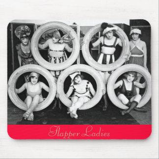 Antique 1920s Liberal Flapper Ladies Photo Mouse Pad