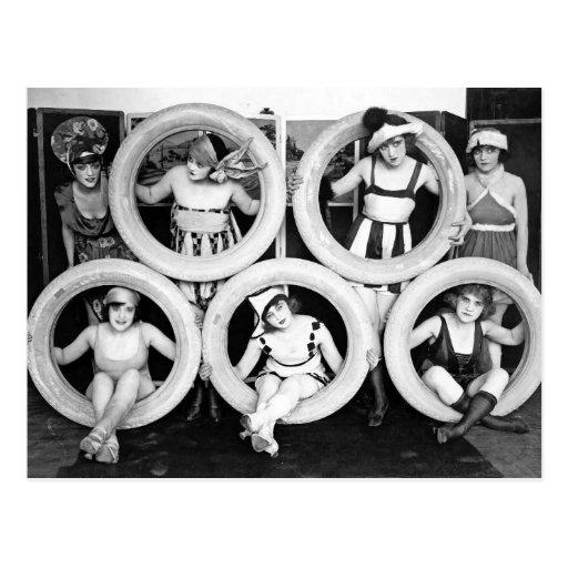 Antique 1920s Liberal Flapper Ladies Photo Postcard