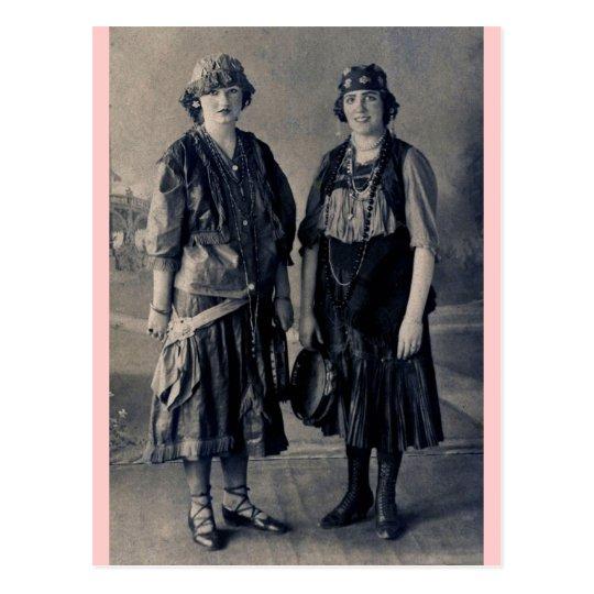 Antique 1920s Women in Gypsy Costumes Postcard  sc 1 st  Zazzle & Antique 1920s Women in Gypsy Costumes Postcard | Zazzle.com